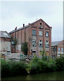 SO8554 : Derelict canalside factories in Worcester by Roger  Kidd