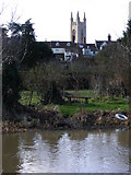 TM3389 : Bungay and St Mary's Church tower by Glen Denny