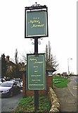 SJ5409 : The Mytton & Mermaid Hotel (2) - hotel sign, Atcham by P L Chadwick