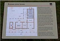 SJ5608 : Wroxeter Roman City (12) - Information board on the replica Villa Urbana by P L Chadwick