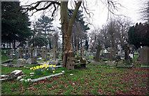 TQ4094 : St John the Baptist, Buckhurst Hill - Churchyard by John Salmon