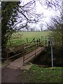 TM3877 : Footbridge on the footpath to Chediston Hall & B1117 Chediston Street by Adrian Cable