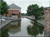 SO8453 : Wharf in Diglis Basin, Worcester by Roger  Kidd