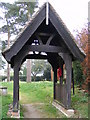TM3669 : Lych Gate of St Peter's Church,Sibton by Adrian Cable