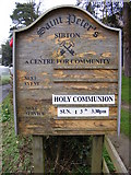 TM3669 : St.Peter's Church,  Notice Board by Adrian Cable