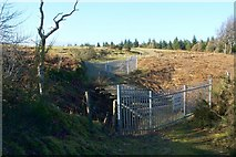 NS4660 : Closed footbridge by Lairich Rig