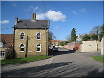SK9859 : The junction of Main Street and Castle Lane, Boothby Graffoe by Jonathan Thacker