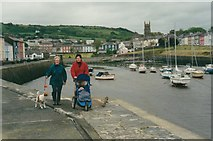 SN4562 : Aberaeron Harbour in 2000 by peter robinson
