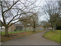 NT3366 : Old army camp, Newbattle Abbey by kim traynor