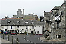 SY9682 : The Greyhound at Corfe by Graham Horn