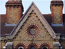 TQ1875 : The Church Estate Almshouses, Sheen Road, Richmond: architectural detail by Stefan Czapski