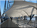TQ3980 : Covered gangway to the QE2 pier by Stephen Craven