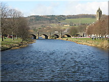 NT2540 : The River Tweed at Peebles by M J Richardson