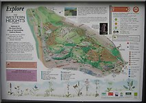 TR3140 : Western Heights Information Board by David Anstiss
