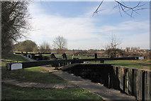 SU6168 : Towney Lock Gates by Bill Nicholls