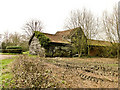 TM3668 : Old wooden farm buildings at South Grange, Sibton by Adrian S Pye