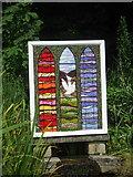 SK2375 : Well dressing, Stoney Middleton, Derbyshire by nick macneill