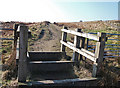 SD9610 : Bridleway stile on Crompton Moor by michael ely