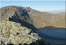 NY3415 : Striding Edge Panorama by Gareth Jones