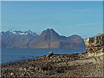 NG5113 : View from the beach at Elgol by Richard Dorrell
