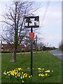 TM0652 : Barking Village Sign by Geographer