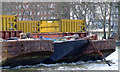 TQ2977 : Barges on the Thames by Thomas Nugent