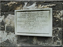 TQ2475 : All Saints, Fulham: memorial on the outside of the chancel wall by Basher Eyre