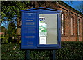 SJ7975 : Church noticeboard, Marthall by Anthony O'Neil