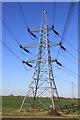 TL1269 : Electricity pylon by Simon Judd