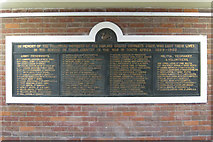 SK3635 : Boer War Memorial, Derby Midland station by Robin Stott