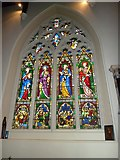 TQ2475 : All Saints, Fulham: stained glass window (4) by Basher Eyre
