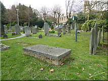 TQ2475 : All Saints, Fulham: spring in the churchyard (c) by Basher Eyre