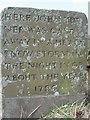 SJ9775 : Memorial Stone, Nab End by Peter Turner