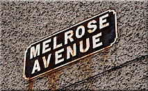 J3673 : Melrose Avenue sign, Belfast by Albert Bridge