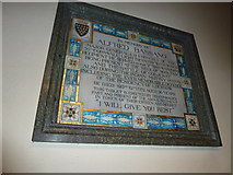 TQ2475 : All Saints, Fulham: memorial (12) by Basher Eyre