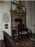 TQ2475 : All Saints, Fulham: The Bishop's Chair by Basher Eyre