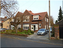 SJ7886 : Semi-detached houses in Grange Avenue, Hale, Cheshire by Anthony O'Neil