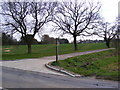 TM3859 : Footpath to Hulver & Wadd Lanes & entrance to Croft Farm by Geographer