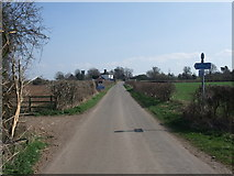 SK8159 : Cycle Route 64 leaving Langford Lane by Tim Heaton