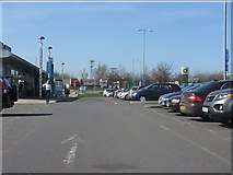 SK4625 : M1 Motorway - Donington Park Services by Peter Whatley