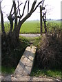 TM3960 : Footbridge on the footpath to the B1121 Saxmundham Road by Geographer