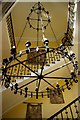 SJ2691 : Chandelier and staircase in Leasowe Castle Hotel by Tiger
