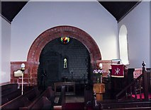 NT5943 : Norman Arch in Legerwood Kirk by Iain Lees