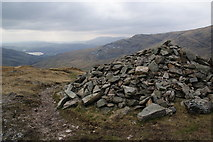 NY4008 : Summit cairn on St Raven's Edge by Bill Boaden