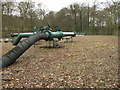 SU7690 : Gas pipeline A G I (Above Ground Installation), Turville by David Hawgood