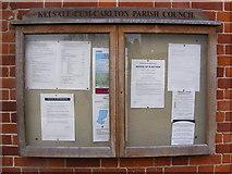 TM3864 : Kelsale cum Carlton Village Notice Board by Adrian Cable