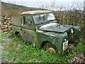 SO5593 : Old classic Landrover on Wenlock Edge by Jeremy Bolwell