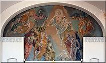 TQ2776 : Christ Church & St Stephen, Battersea Park Road - Wall painting by John Salmon