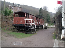 SK3155 : Disused railway and wagons, High Peak Junction by JThomas