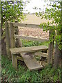 TM3764 : Stile on the footpath to Rendham Road by Adrian Cable